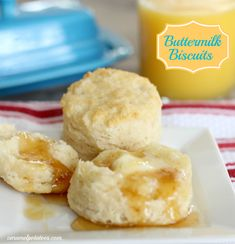 Homemade Hot Buttermilk Biscuits - easy and so delicious!  Perfect for holiday brunch.