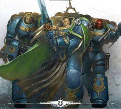 Warhammer 40k Art, Warhammer Models, Warhammer Fantasy, Super Troopers, 501st Legion, Futuristic City, Sci Fi Characters, Bioshock, Space Marine