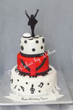 Michael Jackson Theme Birthday Cake