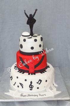 Michael Jackson Theme Birthday Cake