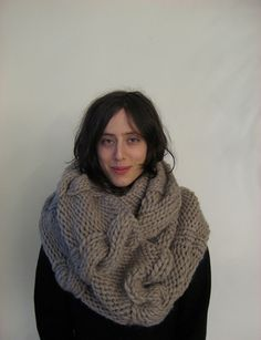 love chunky knitted scarves