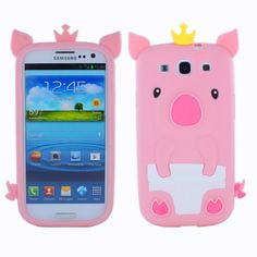 Fosmon 3D Pig Design Silicone Case for Samsung Galaxy S3 S III - Baby Pink by Fosmon, http://www.amazon.com/dp/B008OZLXZ4/ref=cm_sw_r_pi_dp_EttYqb1V0G74F