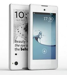 Yotaphone puhelin ja lukulaite. Yotaphone is a smartphone and an ereader: 2 screens.