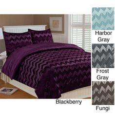 Chevron 3-piece Queen-size Comforter Set | Overstock.com
