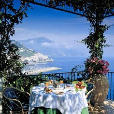 Amazing View From Hotel Santa Caterina Amalfi Coast Italy By Travelive