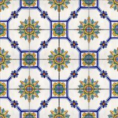 """Avola"" decor - handpainted 11.8x11.8 inches tiles / piastrelle cm 30x30 decorate a mano"