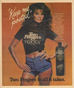 Two Fingers Tequila Funny Vintage Ads, Vintage Movies, Old Advertisements, Advertising, Vintage Photos, Vintage Posters, Vintage Photographs, Valley Girls, Old Ads