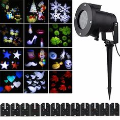 Cheap laser projector, Buy Quality led rotating directly from China colorful led rotating Suppliers: 12 Pattern Lens Replaceable Colorful LED Rotating Laser Projector Lamp Outdoor Garden Christmas Landscape Projection Led Light Halloween Projector, Christmas Projector, Christmas Lights, Led Stage Lights, Christmas Landscape, Novelty Lighting, Lumiere Led, Garden Lamps, Projector Lamp