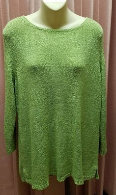 White Stag XL Womens Spring Green Tunic Sweater #WhiteStag #Tunic