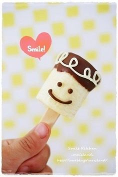 chocobanana fun food with a cute smile for you