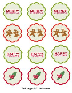 Christmas Cupcake Toppers Free Printable.21 Best Printable Images In 2014 Christmas Cupcake Toppers