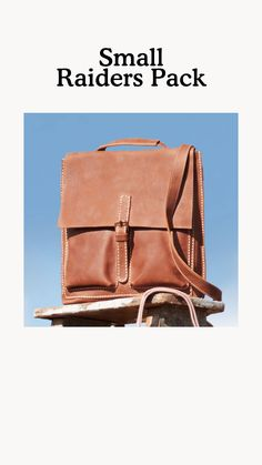 Designed and handcrafted in Canada, our Small Raiders Pack features one main compartment, a front zipper pocket and two slip pockets to keep you organized. Its shoulder straps can be adjusted and worn in three different ways: handheld, on the shoulder, or as a backpack. Raiders, Packing, Leather, Handbags, Bag Packaging