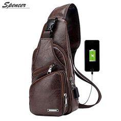 Mens Leather Sling Bag, Leather Men, Leather Shoulder Bag, Leather Bags, Leather Craft, Leather Backpack, Mens Crossbody Bag, Crossbody Bags For Travel, Travel Backpack