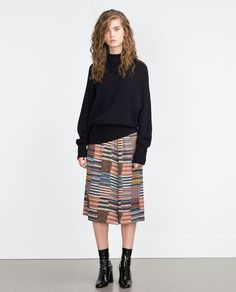 Image 2 of PLEATED SKIRT WITH SLIT from Zara