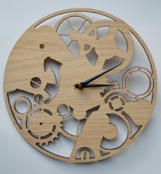 Laser cut clock - watch mechanism design. by DomusDecorClocks, £35.00