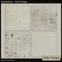 Daydreamer - Old Overlays by @laitha @digitalsStore would make a great art journal base