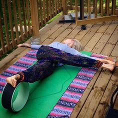 """Last chance to get 20% off your order at YogaWheel.com by using code MYWHEEL at checkout. In fact, Less than ONE hour left!  The possibilities are endless, so find our for yourself how amazing it can feel to own a #BASYogaWheel. Pictured: @kirafast_yoga with her teal 12"""" #Breakin_a_Sweat #YogaWheel"""