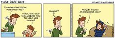"""""""That Deaf Guy"""" comic--- I love <3 this!"""