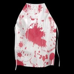 Cook up tasty halloween treats and potions in the kitchen with this horror apron with fake blood splatters! Alos use as part of a costume to scare your guests with. Adult Product. Do Not Wash.