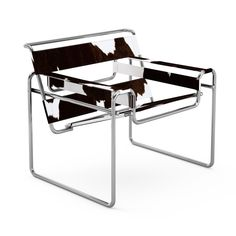 Mies van der Rohe MR Chaise The MR Collection represents some of the earliest steel furniture designs by Mies van der Rohe. The material choice was inspired by fellow Bauhaus master Marcel Breuer, whi Steel Furniture, Modern Furniture, Furniture Design, Furniture Chairs, White Furniture, Marcel Breuer, Wassily Chair, Ludwig Mies Van Der Rohe, Tubular Steel