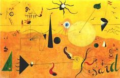 The Hunter by Joan Miro, 1923-24 #art #painting #surrealism