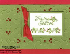 Handmade Christmas card using Stampin' Up! products - Oh, What Fun Photopolymer…