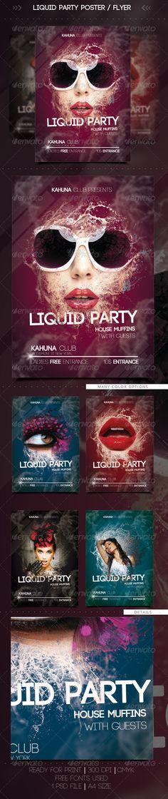 Wet Liquid Party Flyer / Poster