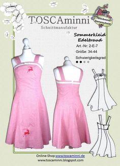 Nähanleitungen Mode - Schnittmuster Sommerkleid, Nähanleitung, E-Book - ein Designerstück von TOSCAminni-Schnittmanufaktur bei DaWanda