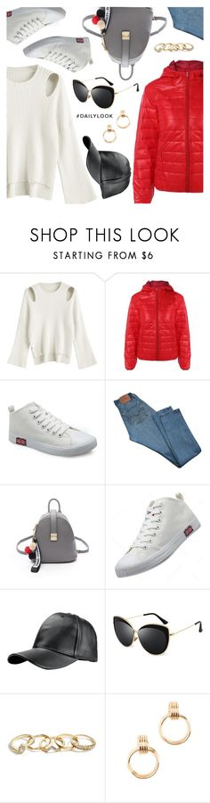 """""""Daily look on the budget"""" by dressedbyrose ❤ liked on Polyvore featuring Levi's, GUESS, Shashi, Dailylook, polyvoreeditorial and gamiss"""