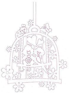 Pletení z papíru, korálkování, fimo- moje koníčky :-) - Fotoalbum - Velikonoční vytřihovánky na okna