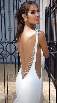 weddingdress open back elihav sasson 2018 capsule bridal sleeveless bateau neck simple clean bodice open side drop waist elegant a line weddng dress low open back chapel train zbv -- Elihav Sasson 2018 Royalty Girl Capsule Collection Simple Wedding Gowns, Sexy Wedding Dresses, Bridal Dresses, Prom Dresses, Backless Dresses, Lace Dresses, Simple Weddings, Trendy Wedding, Wedding Blog