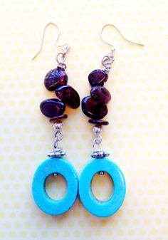 Focal beads could be easily made with polymer clay to keep these earrings lightweight.