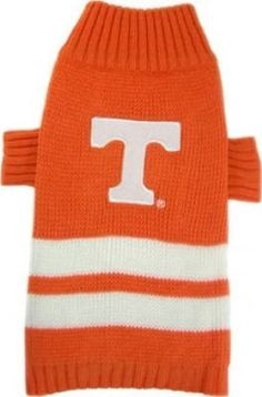 NCAA Dog Sweater Size: Medium (16' H x 7' W x 0.2' D), NCAA Team: Tennessee Volunteers -- Remarkable product available now. : Dog sweaters