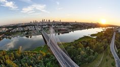 High Resolution Summer sunset over the Warsaw Wallpaper