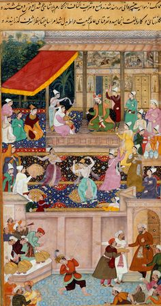 The child Akbar recognizes his mother at Kabul in 1545