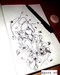 The process of creating Mulan tattoo. Kpop Drawings, Cool Art Drawings, Disney Drawings, Anime Tattoos, Disney Tattoos, Tatoos, Disney Character Sketches, Petit Tattoo, Elbow Tattoos