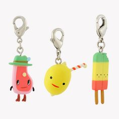 Aaron Meshon's Let's Hang Zipper Pulls at KidRobot.com.  My goal is to get enough of these to make my own charm bracelet!