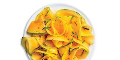 When shopping for this salad at the market, pick heavy, aromatic cantaloupes with stem ends that yield slightly when pressed.