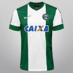 Camisa Nike Coritiba II 13/14 s/nº - c/ Patrocínio - Verde+Branco