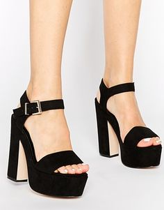 ASOS+HIGHLIGHT+Wide+Fit+Heeled+Sandals size 4