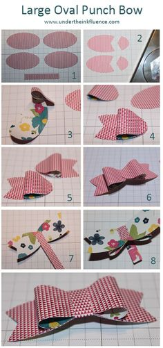 Create a paper bow using Stampin' Up's Large Oval punch - Under the Inkfluence.com www.undertheinkfluence.com