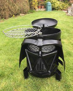 Star Wars Darth Vader inspired grill. SHUT & TAKE MY CREDITS!!!