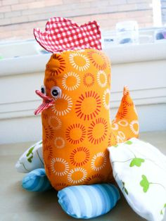 Spring Chicken softie tutorial by Amy of Badskirt #sew #diy #tute