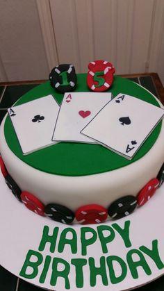 Amy's Crazy Cakes - Poker Themed Birthday Cake