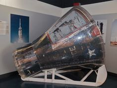 GEMINI 2: On January 19, 1965, this capsule was launched on its first flight aboard a Titan II booster from Complex 19 at Cape Canaveral Air Force Station. The 10 minute / 2,117 nautical mile flight was the last of two unmanned missions to qualify the Gemini spacecraft and its launch vehicle for two-man orbital space flight.