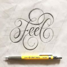 Nov 2016 - Design resource for typography and lettering lovers. We showcase work by incredible artists and provide resources to better serve the typography community. Pencil Calligraphy, Calligraphy Words, Calligraphy Handwriting, Modern Calligraphy, Hand Lettering Alphabet, Script Lettering, Typography Letters, Lettering Design, Fancy Writing