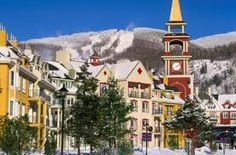 Mt. Tremblant in Quebec is like a postcard come to life. The town is impeccable. You seriously feel like you're in an old Christmas movie everywhere you go.