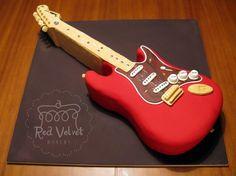 guitar cake. #redvelvet