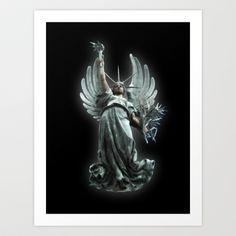 Angel 37 Art Print by Richard J Wise - $17.68