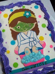 Spa Birthday Cake By Lori Mahoney Cakes  Cake Decorating - Spa birthday party cake